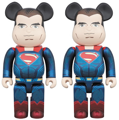 Batman v Superman: Dawn of Justice Superman 400% & 1000% Be@rbrick Vinyl Figures by Medicom
