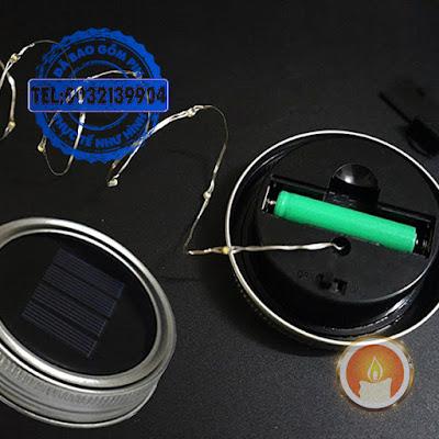 Lọ đèn treo hình sao sạc pin năng lượng mặt trời