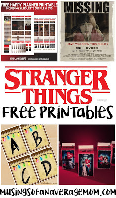 Stranger Things free printables