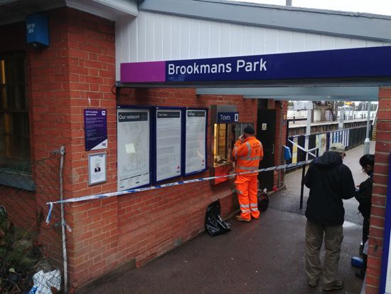 Brookmans Park station ticket office - image by North Mymms News released under Creative Commons