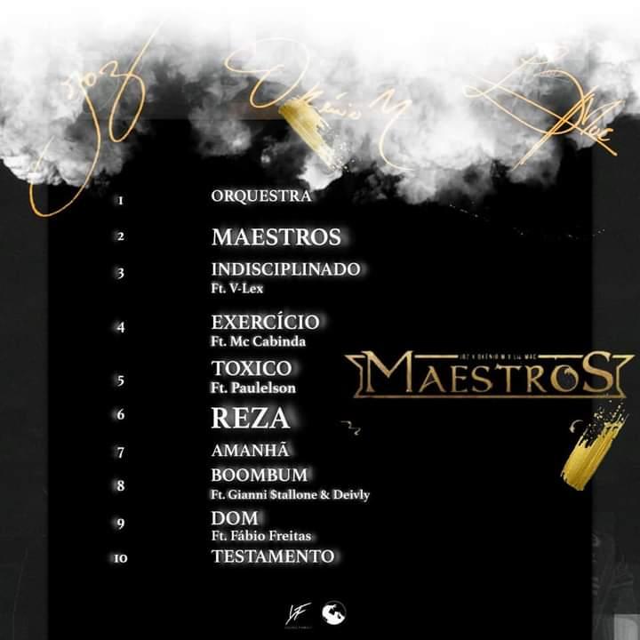 """Young Family revela tracklist do album """"Maestros"""" de Okenio M, Joz e Lil Mac"""