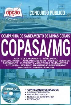 apostila Copasa 2018 Agente de Saneamento - Médio.