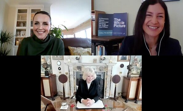 The Duchess held a video conference to discuss the new Ask for ANI programme with Suzanne Jacob and Rachel Williams