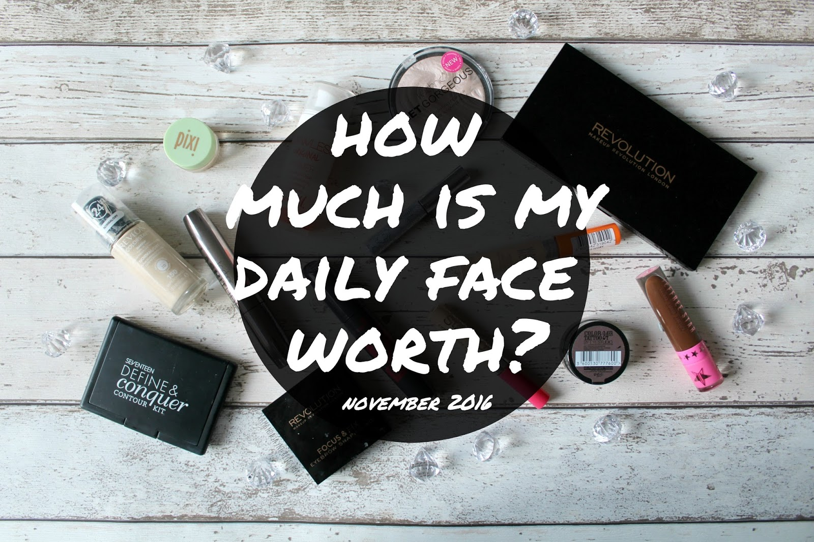makeup of the day makeup of the month daily face cost how much is my everyday face worth