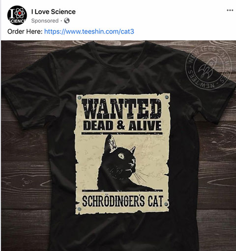 Wanted: Dead or Alive - Schrodinger's Cat (Source: I Love Science)