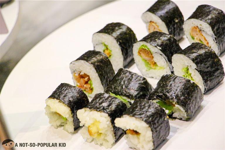 Sushi rolls in Shaburi Japanese Restaurant, Uptown Mall