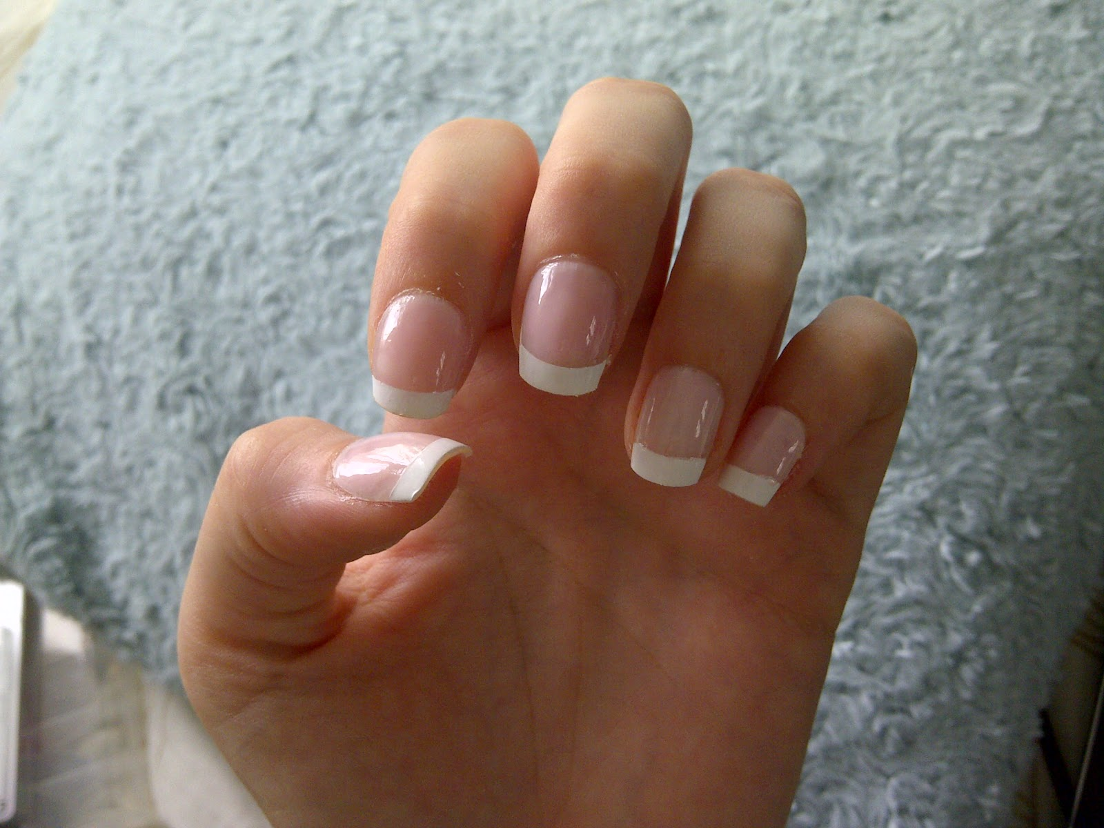 Bows and Bells: DIY Acrylic French Manicure Nails