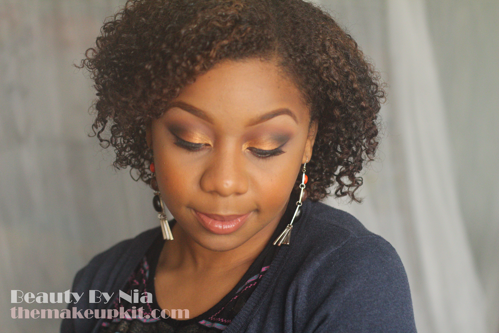 Burnt Orange Smokey Eye MakeUp Look 1