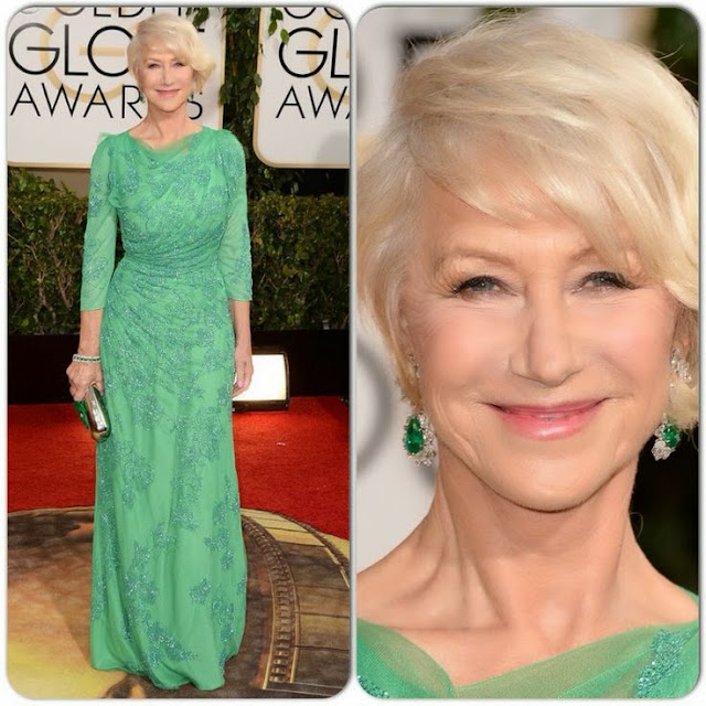 Helen Mirren in Jenny Packham – 2014 Golden Globe Awards