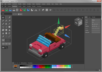 Voxel art is made using software called a Voxel Editor.