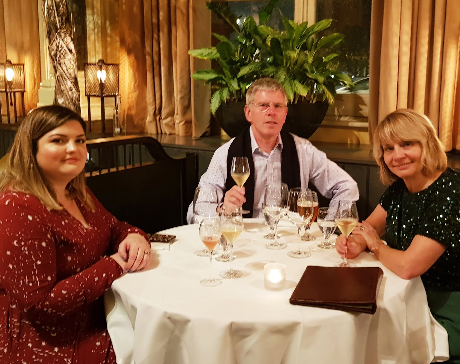 The family of blogger Is This Mutton at The Gilbert Scott restaurant in London