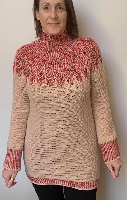 crochet pulover