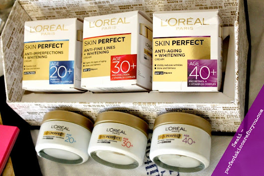 Perfect Skin Care for you: L'Oreal Paris Skin Perfect Cream for 20+ and 30+ {Product Review}