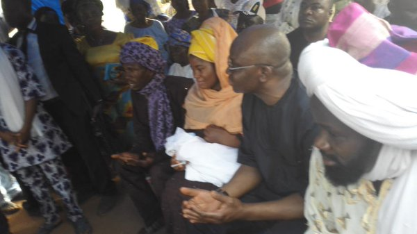 Photos: Gov. Ayo Fayose Stops To Attend A Ceremony Of 'Total Strangers' Naming Their Baby