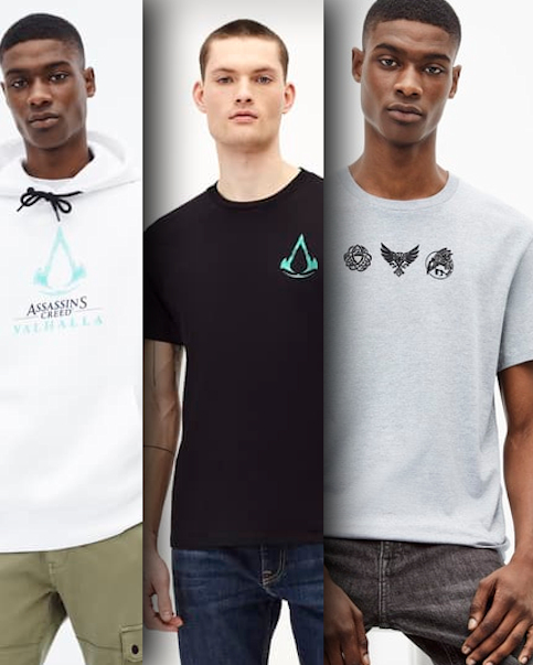 la collection de vêtements Assassin's Creed Valhalla X Celio,