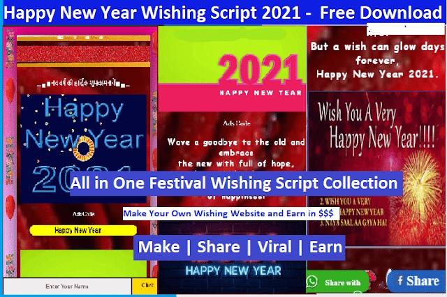 Blogger festival wishing Script new year script download