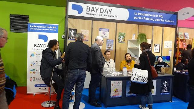Photo du stand BayDay au festival d'Angoulême 2020