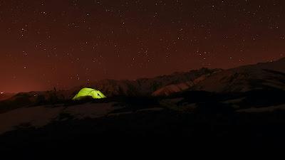Scene, starry night, sky, stars