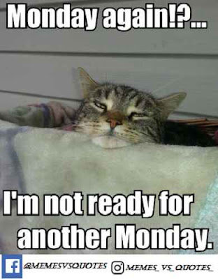 I'm not ready for another monday