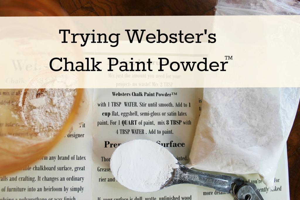 trying webster s chalk paint powder miss kopy kat