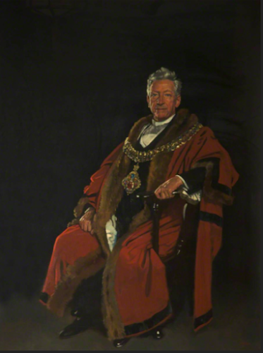 Portrait in oil of Baron Leverhulme, Mayor of Bolton, 1921 by William Orpen, held in Bolton Town Hall, UK