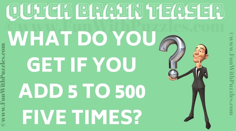 Quick Brain Teaser Riddle For Kids With Answer Fun With