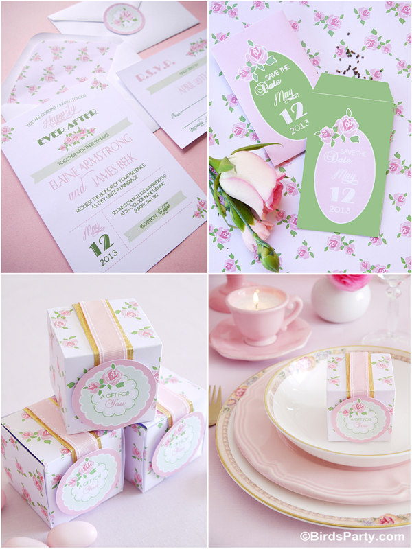 DIY Wedding Ideas & Printable Stationery for HGTV  - BirdsParty.com