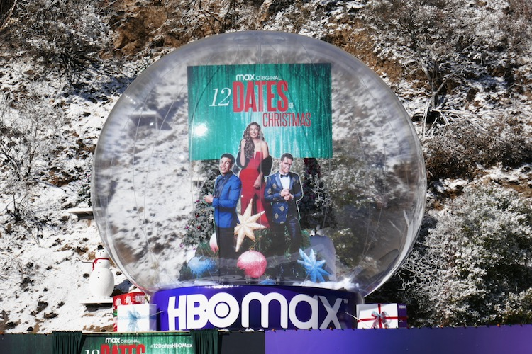 12 Dates of Christmas HBO Max snow globe installation