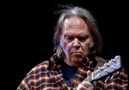 Neil young tour speaking