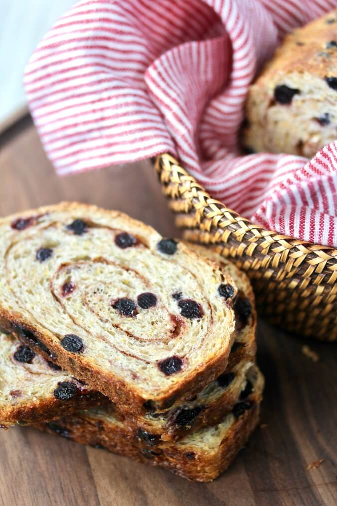 Cinnamon Blueberry Multigrain Bread