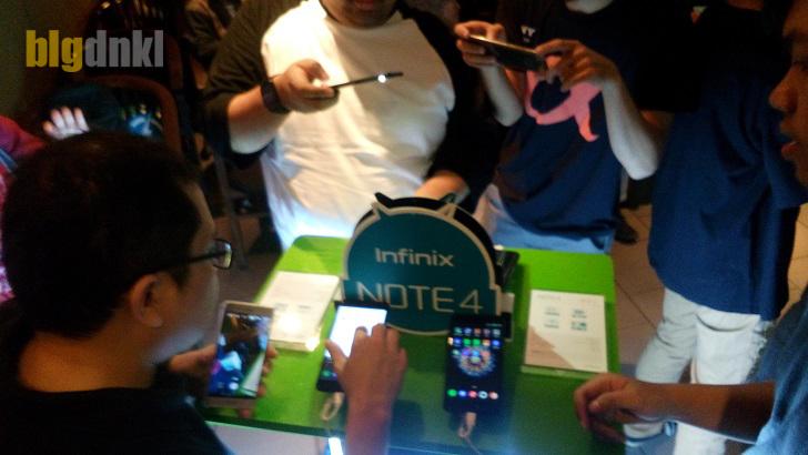 Antusiasme yang tinggi terlihat saat hands-on Infinix Note 4 X572