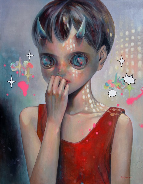 "obras de arte, pintura, pop art, imagenes tristes | ""Children on the Edge - 14 years old #2"" by Hikari Shimoda"