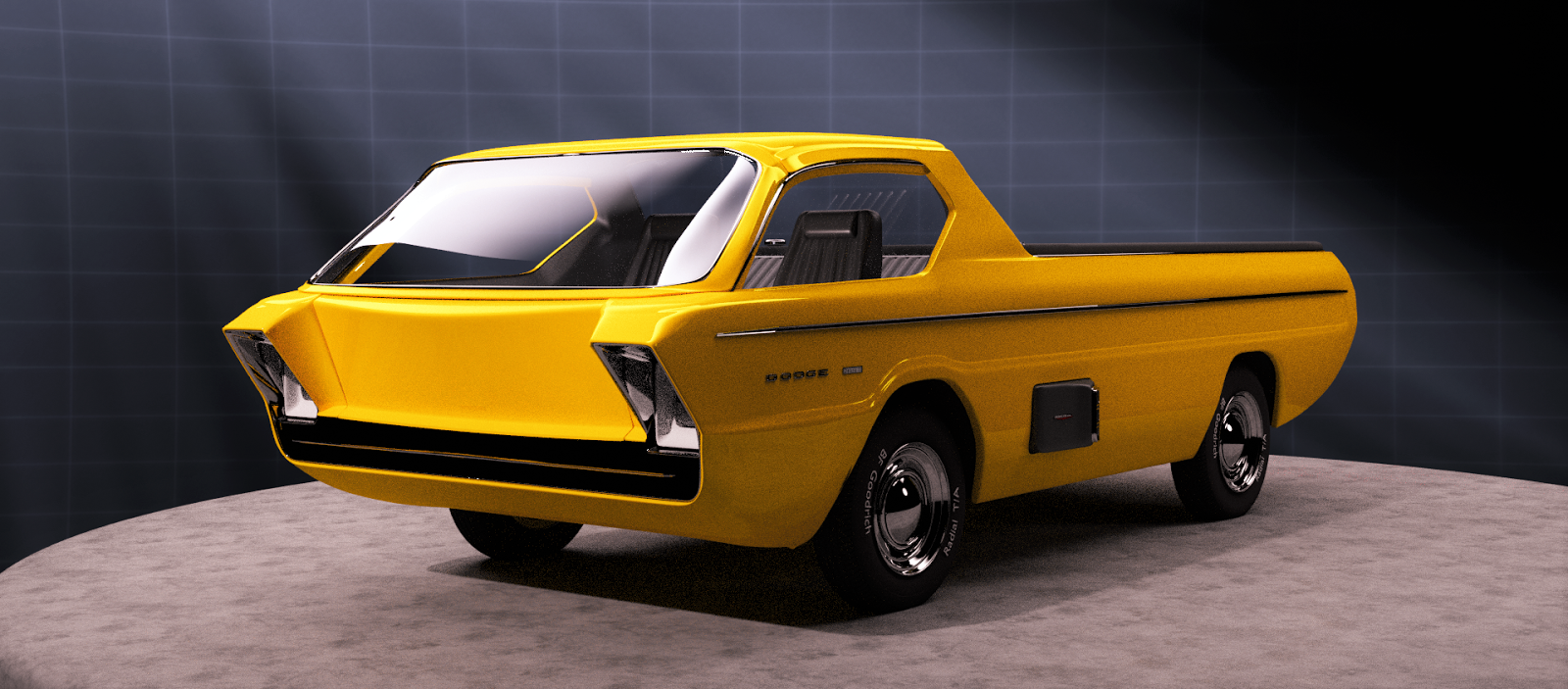 The Tinkers Workshop: 1960's Dodge Deora II Showcar Completed In Blender 3D