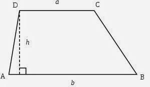 טרפז - מונחים , גובה, בסיסים, שטח