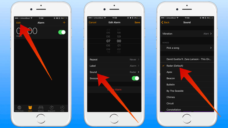 iphone alarm sound how to change alarm sound on iphone or 11583