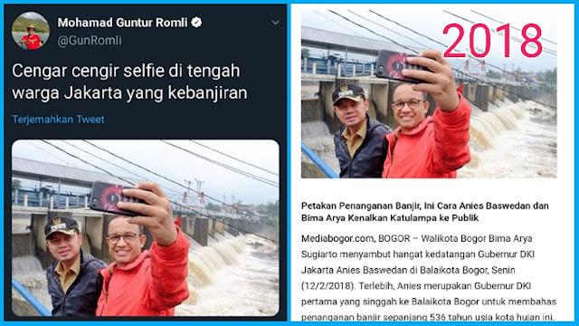 Demi Serang Gubernur Anies, Politisi PSI Guntur Romli Pakai Foto 2018