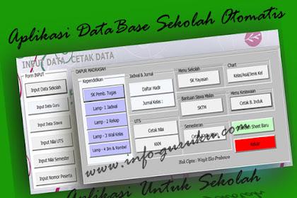 Download Aplikasi Data Base Sekolah Otomatis Versi Excel.Xslm