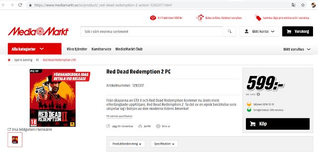 قد تأتي Red Dead Redemption 2 إلى جهاز الكمبيوتر في عام 2019 وفقًا لمتاجر التجزئة الأوروبية MediaMarkt