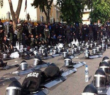 Apoio dos policiais