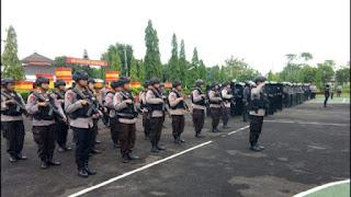 Batalyon C Pelopor Sat Brimob Polda Jabar Gelar Apel Gelar Pasukan Jaga Harkamtibmas
