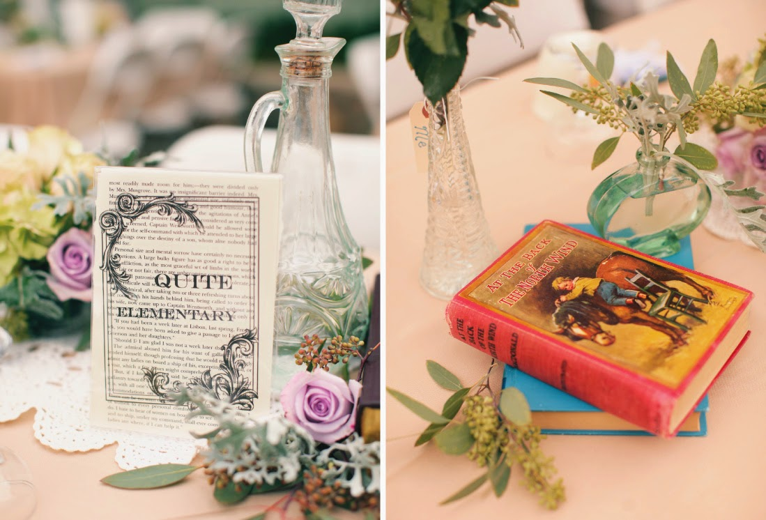 memorable wedding: a literary themed wedding for book lovers