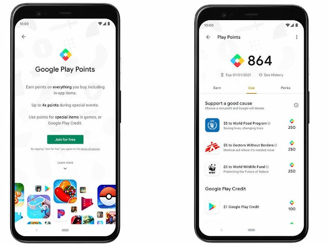 Google Play Points Programme has  Launched in the US  For  Rewarding Downloads, Subscriptions