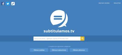 Página de subtitulamos.tv