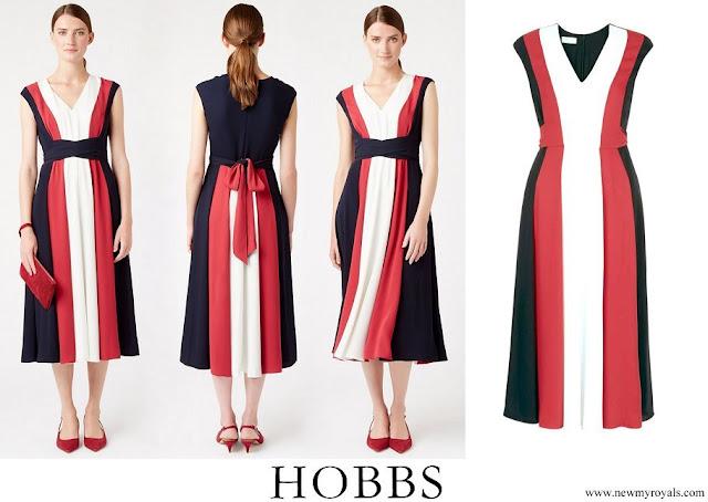 Princess Stephanie wore Hobbs Bailly V Neck Dress