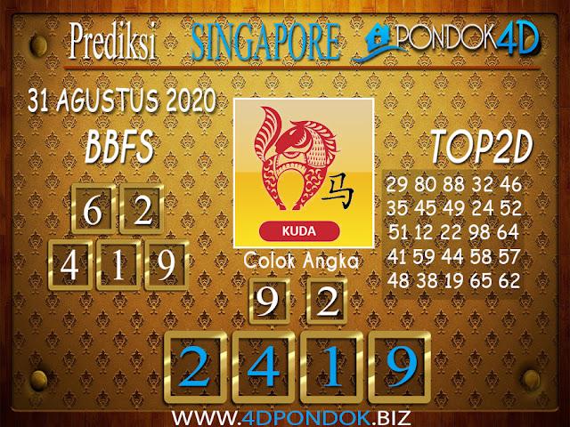 Prediksi Togel SINGAPORE PONDOK4D 31 AGUSTUS 2020