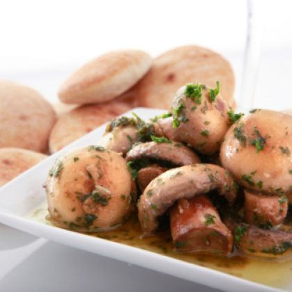 Mini Mushroom-Cheese Pitas Recipe