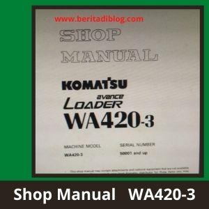 Komatsu wa420-3 shop manual whhel loader komatsu