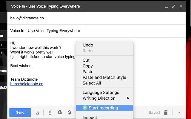 Voice Input Chrome extensions - Techzost blog
