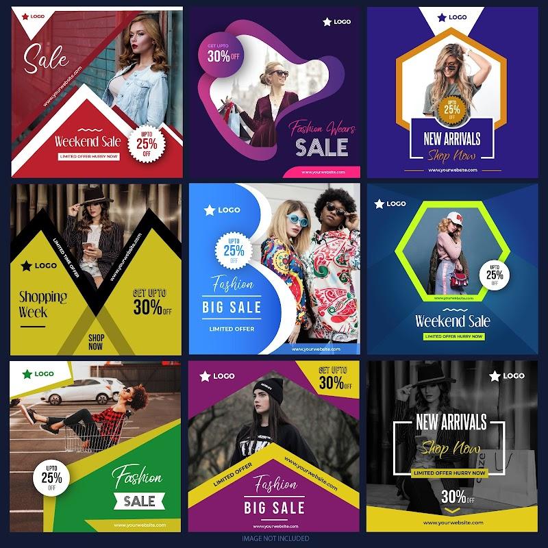 Posters para redes sociais em CorelDraw Download Grátis