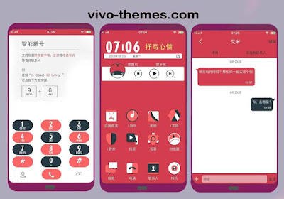 Cool Red Theme For Vivo Android Smartphones